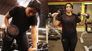 Nandini Rai Exclusive Visuals @ GYM Workout Video | Nandini Rai Latest Workout Video | TFPC - TFPC