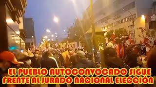 POBLACIÓN PERUANA R3ALIZA VIGILIA FRENTE AL JURADO NACIONAL DE ELECCIONES EN LIMA-PERÚ..