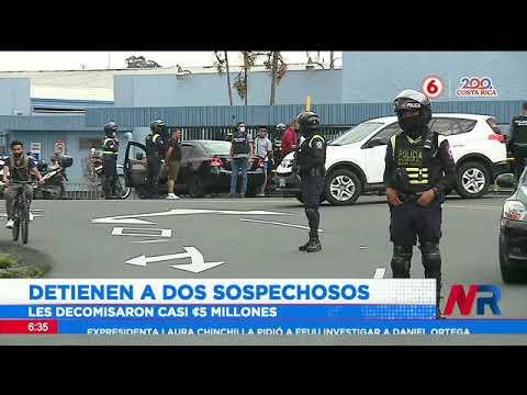 Detienen a dos sospechosos frente a clínica Solón Núñez por legitimación de capitales