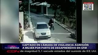 Captado en cámara de vigilancia agresión a mujer por parte de desaprensivo en SFM