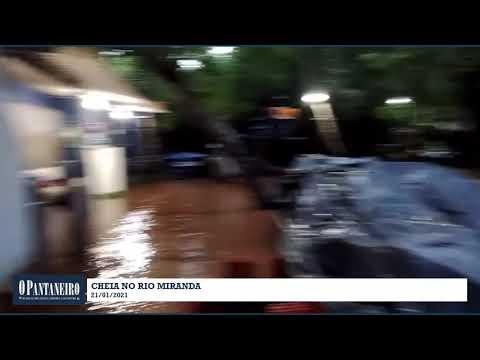 Cheia no Rio Miranda - 21/01/2021
