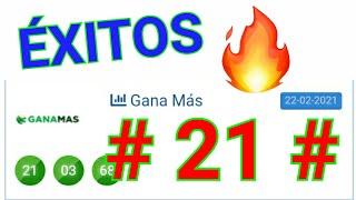 RESULTADOS de HOY...!! ((( 21 ))) BINGO HOY / SORTEOS loteria GANA MÁS HOY/ UN SÓLO NÚMERO PARA HOY