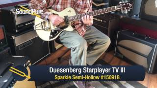 Duesenberg Starplayer TV III Sparkle Semi-Hollow #150918