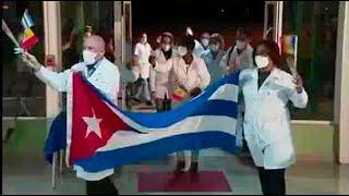 Cuba: Recibimiento a Brigada Médica procedente de Andorra