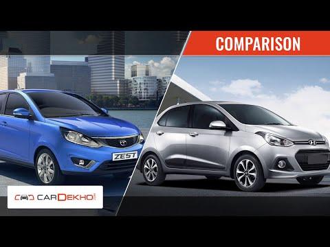 Tata Zest vs Hyundai Xcent | Video Comparison | CarDekho.com - Hyundai Videos