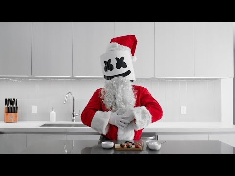 connectYoutube - Cooking with Marshmello: How To Make Strawberry Santas (Christmas Edition)