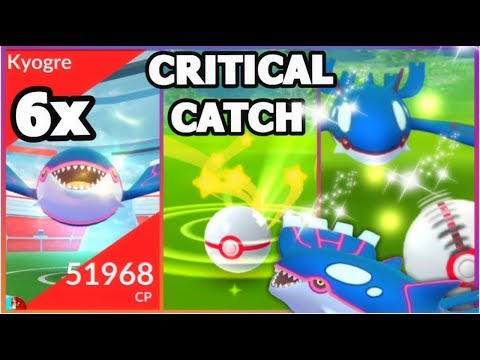 connectYoutube - CRITICAL CATCHING KYOGRE IN POKEMON GO   CATCHING 6 KYOGRE