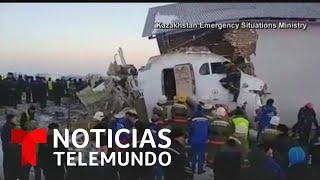 Accidente aéreo en Kazajistán deja 12 muertos   Noticias Telemundo