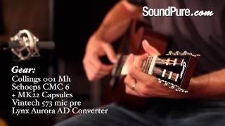 Collings 001 Mahogany Acoustic Guitar Demo