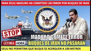 Maduro cometio un error sera derrocado Iran no entrara a Venezuela