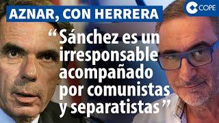 Habla Aznar: su escalofriante profecía sobre el 'futuro negro' de España