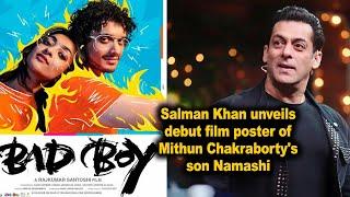 Salman Khan unveils debut film poster of Mithun Chakraborty's son Namashi - IANSINDIA