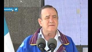 Presidente participa en la reapertura del parque arqueológico Quiriguá