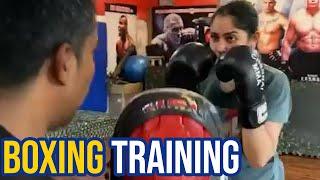 Sayyeshaa Boxing Training Video | Arya Wife Actress Sayesha Latest Video | TFPC - TFPC