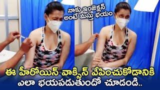 Puri Jagannadh Heroine Mannara Chopra Gets Covid Vaccine | TFPC - TFPC