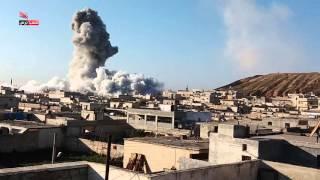 استهداف طائرات الاحتلال الروسي منازل المدنيين في تل رفعت بريف حل