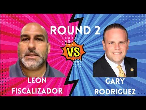 Leon Fiscalizador le zumba super descarga a Gary Rodriguez Round 2