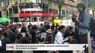 A un mes de la muerte de Dilan, así fue el homenaje que le hicieron en el centro de Bogotá