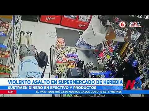 Violento asalto en supermercado de Heredia