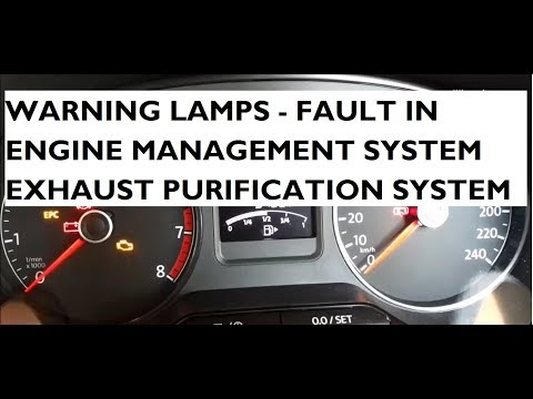 Warning Lamps Indicating Fault In Engine Management & Exhaust Purification Systems