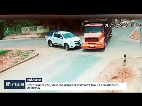 Sem sinalização, mais um acidente é registrado na rua Antônio Campelo