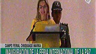 12 de diciembre, presidenta Jeanine Añez inaugura la FIPAZ