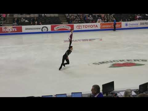 Nathan Chen Quad Flip-Triple Toe - 2018 U.S. Nationals Men's SP Warm Up, 2018.01.04