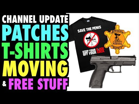 connectYoutube - Channel Update: Patches, T-Shirts, Moving, & Free Stuff