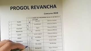 Progol y progol revancha concurso #2028