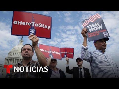 Beneficiarios de TPS se manifiestan en Washington D.C. | Noticias Telemundo