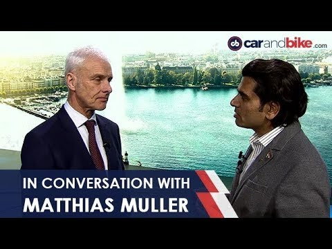 connectYoutube - In Conversation With Matthias Muller, CEO, Volkswagen Group | NDTV carandbike
