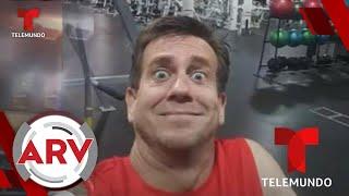 Hombre se queda encerrado en gimnasio y las imágenes se hacen virales   Al Rojo Vivo   Telemundo
