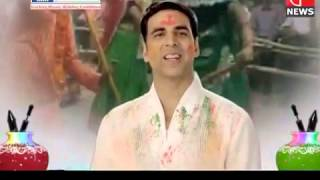 Akshay Kumar wishing Happy Holi for Pearls Group ad