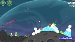 Angry Birds Space - Walkthrough 2-7 3 stars cold cuts level guide how to get three star levels