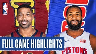 CAVALIERS at PISTONS | FULL GAME HIGHLIGHTS | January 9, 2020