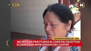 Mujer con fracturas al caer del colectivo en Encarnación