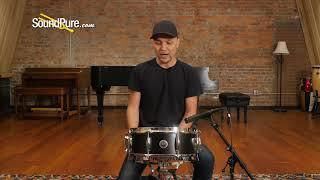 Gretsch 5x14 Brooklyn Series Snare Drum Satin Dark Ebony Quick 'n' Dirty