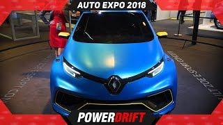 Renault Zoe @ Auto Expo 2018 : PowerDrift