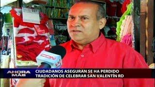 Ciudadanos aseguran se ha perdido tradición de celebrar San Valentín en RD