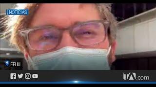 Médico ecuatoriano recibió la vacuna de Pfizer contra el coronavirus.
