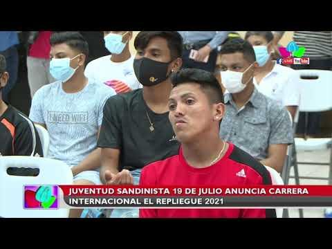 Juventud Sandinista 19 de Julio anuncia carrera internacional El Repliegue 2021