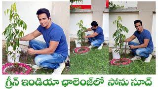 Actor Sonu Sood Accepts Green India Challenge | గ్రీన్ ఇండియా ఛాలెంజ్ లో సోను సూద్ | IG Telugu - IGTELUGU