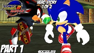 Sonic Adventure 2 Battle Gameplay Walkthrough Part 1 - Hero Story