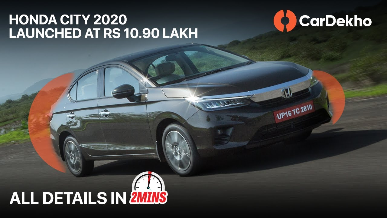 🚗 Honda City 2020 Launched At Rs 10.90 Lakh | All Details & Features #In2Mins (हिंदी ) | CarDekho