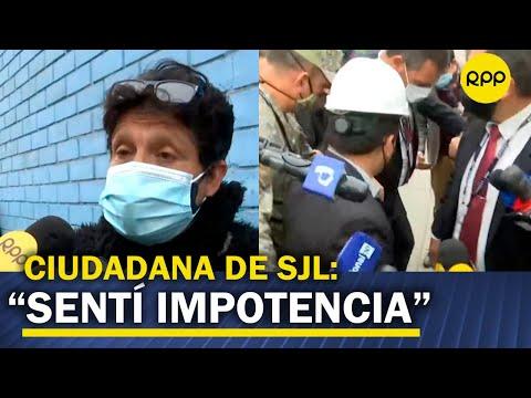 """Vecina de SJL sobre Bellido: """"son autoridades que representan al pueblo y nos tienen que escuchar"""""""