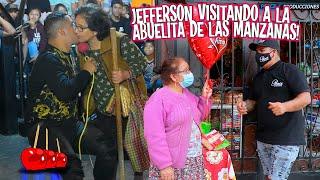 JEFFERSON OFICIAL visitando a la ABUELITA DE LAS MANZANAS (De piolín)