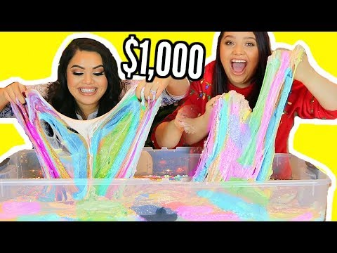 connectYoutube - $1,000 SLIME SMOOTHIE! With My Twin Sister! I BOUGHT $1,000 OF SLIME