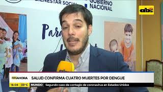 Salud confirma cuatro muertes por dengue