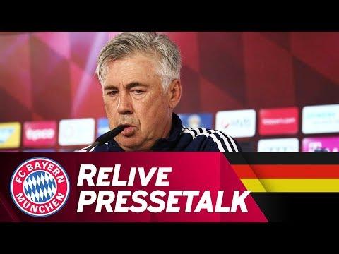 LIVE | FC Bayern Pressetalk vor Bayer Leverkusen mit Carlo Ancelotti