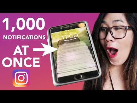 What 1,000 Instagram Notifications Looks Like All At Once